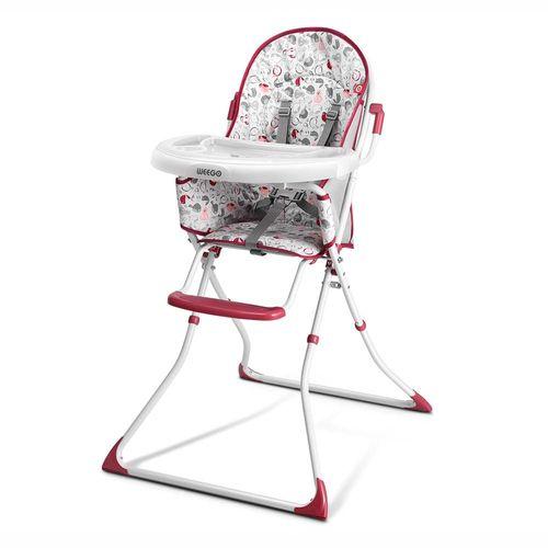 Cadeira Alta de Alimentação Meal Time até 15 KG Rosa Weego - 4067
