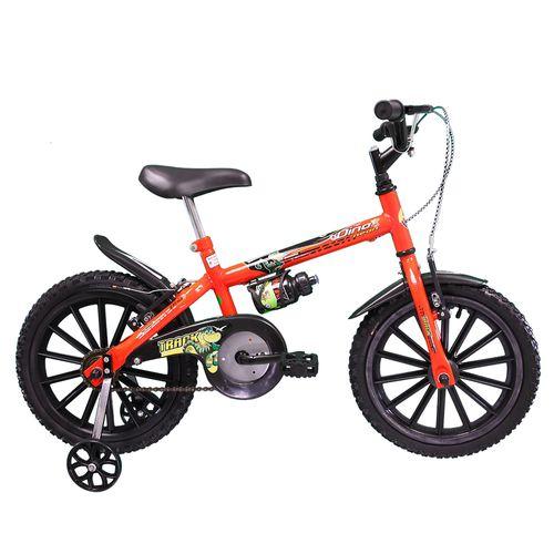 Bicicleta - Aro 16 - Dino - Com Garrafinha - Tk3-Track - Laranja Neon