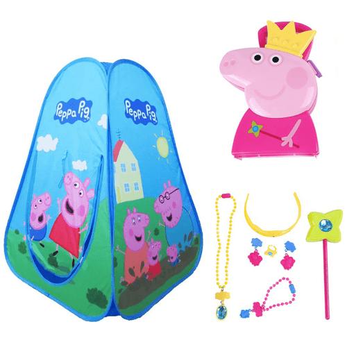 Combo Kids - Tenda Peppa Pig e Maleta Peppa Pig Joias Multikids - BR1308K