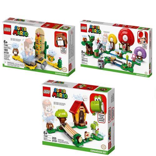 LEGO Super Mario Casa De Mario e Yoshi + Cactubola do Deserto + R$ 0,06 Leve Caça Ao Tesouro De Toad