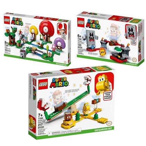 LEGO Super Mario - Derrapagem da Planta + Revés das Lavas + R$0,06 Leve Caça Ao Tesouro De Toad