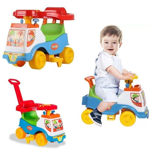 Totoka Plus Andador Infantil de Empurrar Educativo Brinquedo Cardoso Toys Menino
