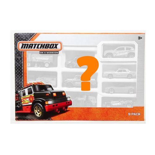Conjunto de Mini Veículos - Matchbox - Surpresa - Pack com 9 Carros - Mattel