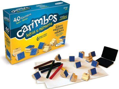 CARIMBO LETRAS E NUMEROS 40UN 50910 XALINGO