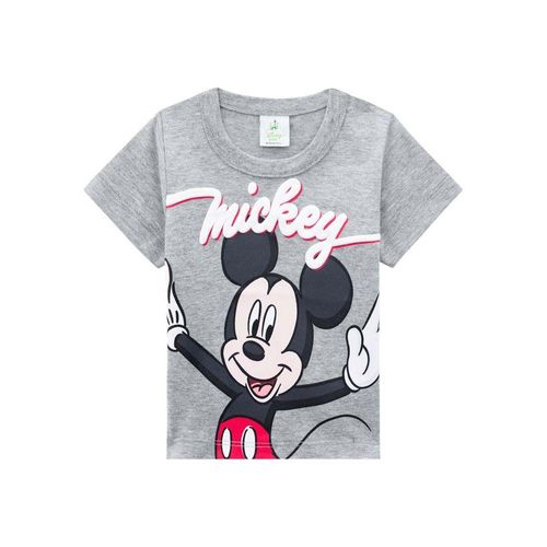 Camiseta Brandili Malha Estampa Mickey Bebê