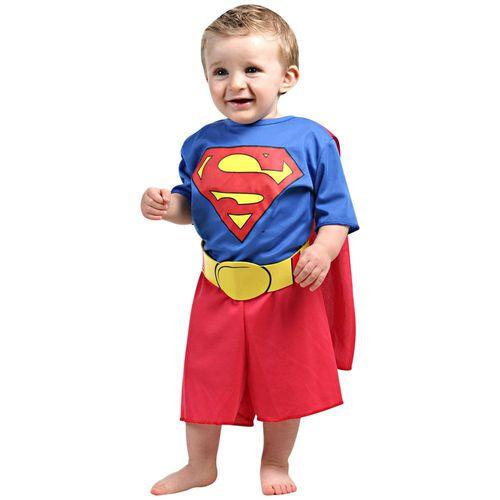 Fantasia Infantil M - Super Homem Bebê - Sulamericana