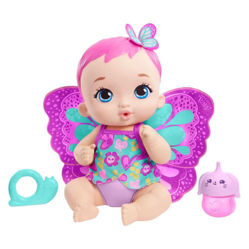 Boneca My Garden Baby Borboleta Faz Xixi - BEBE BORB AL/TR LOIRA