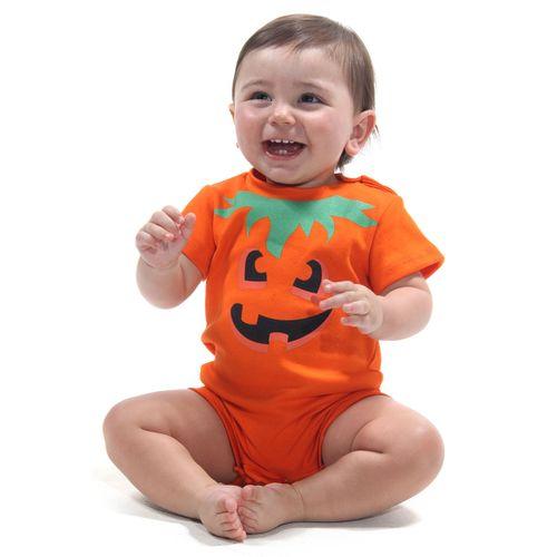 Body Macaquinho Bebê Abóbora- Halloween