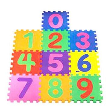 Tapete de Atividades - 30x30 Cm - Numérico - 10 Placas - Mingone