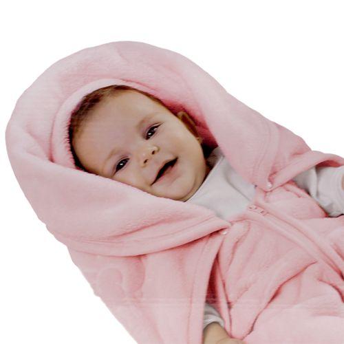 Baby Sac em Microfibra com Relevo Touch Texture - Rosa - Jolitex