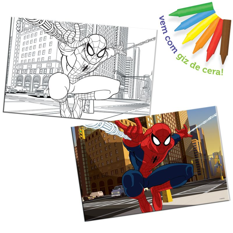2075-Quebra-Cabeca-para-Pintar-Ultimate-Spider-Man-100Pecas-Toyster_1