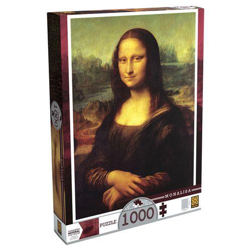 Quebra-Cabeça Leonardo Da Vinci - Monalisa - 1000 peças - Grow