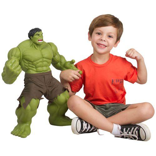 Boneco Articulado - 55 Cm - Disney - Marvel - Premium - Hulk Gigante - Mimo