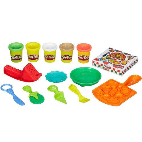 Conjunto Play-Doh - Festa da Pizza com Acessórios e Embalagem de Pizza - Hasbro
