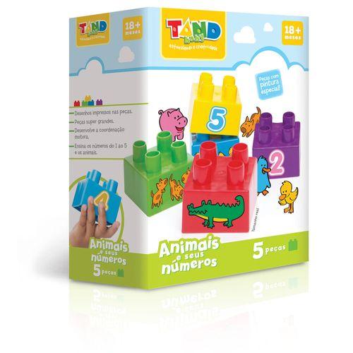 Bloco de Montar - Tand Baby - 5 peças - Animais e seus Números - Toyster