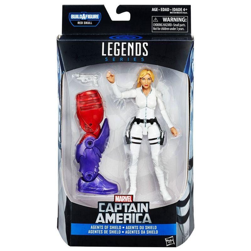 Boneco-Legends-Series---Marvel-Capitao-America---Build-a-Figure---Red-Skull---Agente-da-SHIELD---Sharon-Carter---Hasbro