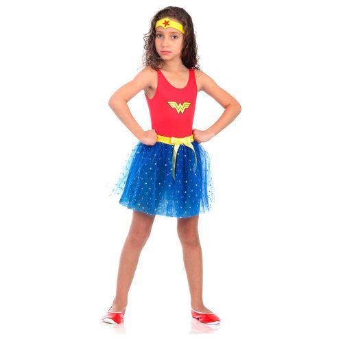 Fantasia Infantil - Dress Up - DC Comics - Mulher Maravilha - Sulamericana