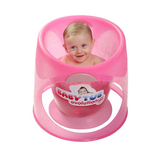 Banheira Babytub Evolution - De 0 a 8 Meses - Rosa - Baby Tub