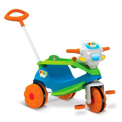 Triciclo de Passeio e Pedal - Velobaby - Meninos - Bandeirante