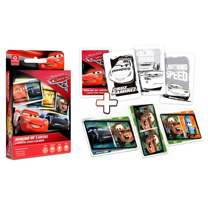 Jogo-de-Cartas---Domino-de-Cartas-para-Colorir---Disney---Pixar---Cars-3---Copag