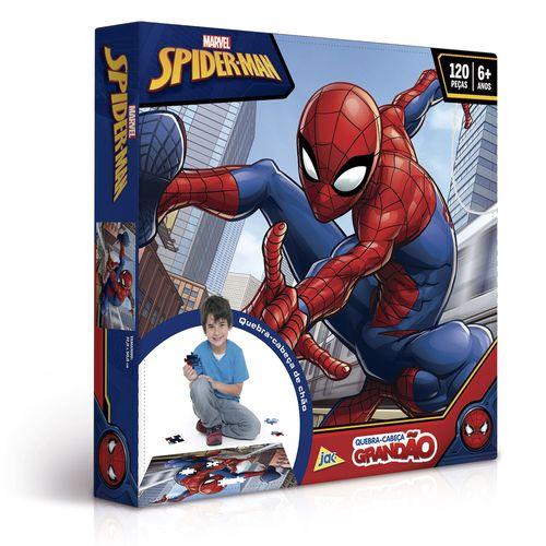 Quebra-Cabeça Grandão - 120 Peças - Disney - Marvel - Spider-Man - Toyster