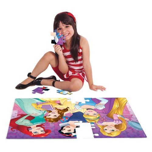 Quebra-Cabeça Grandão - Princesa Disney - 48 Peças - Jak