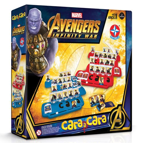 Jogo - Cara a Cara - Disney - Marvel - Vingadores - Guerra Infinita - Estrela