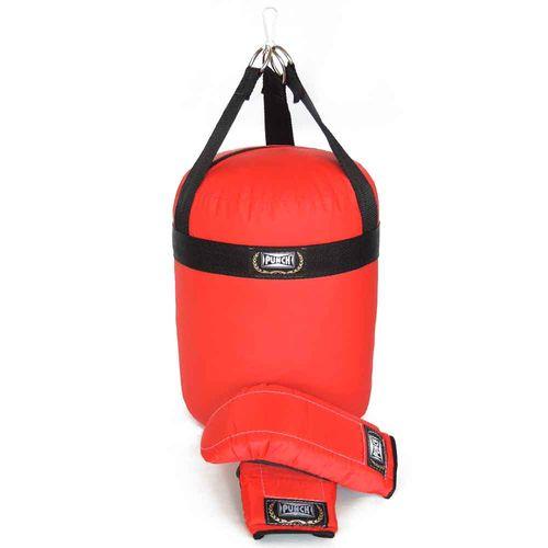 Conjunto de Boxe - Junior - Saco de Pancada 60 Cm e Luvas Bate-Soco - Punch