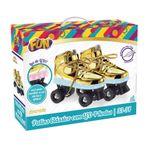 Patins-Classico---4-Rodas-com-LED---Dourado---Fun---Tam-37-38