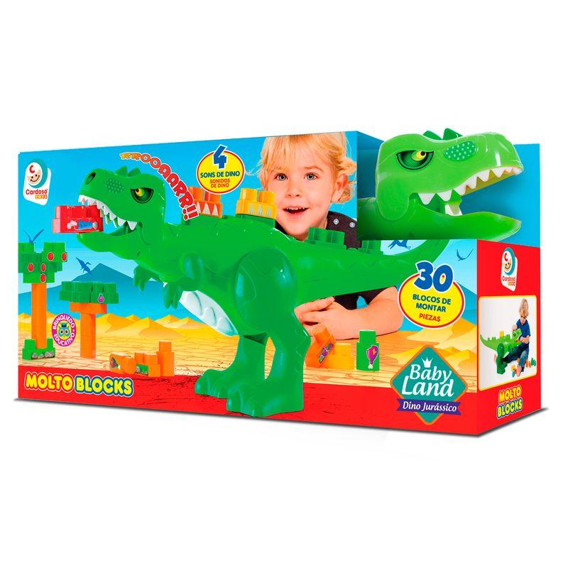 Blocos-de-Montar---30-Pecas---Dino-Jurassico---Baby-Land