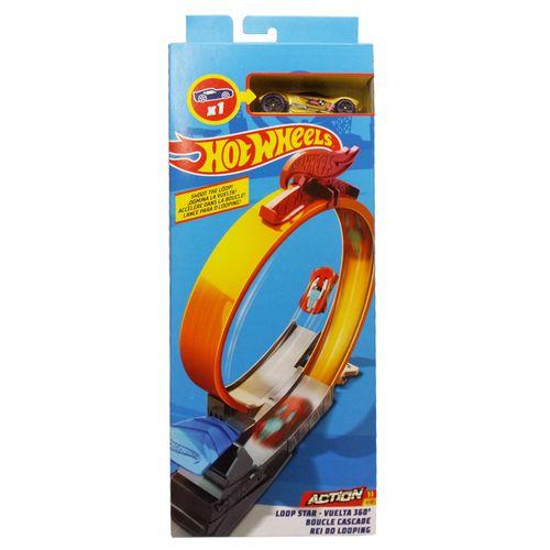 Pista e Veículo - Hot Wheels - Track Builder - Rei do Looping - Mattel