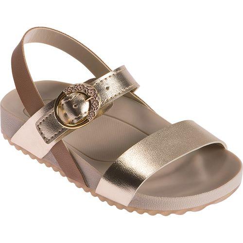Sandália para Bebês - Feminina - Dourado Metalizado - Pimpolho