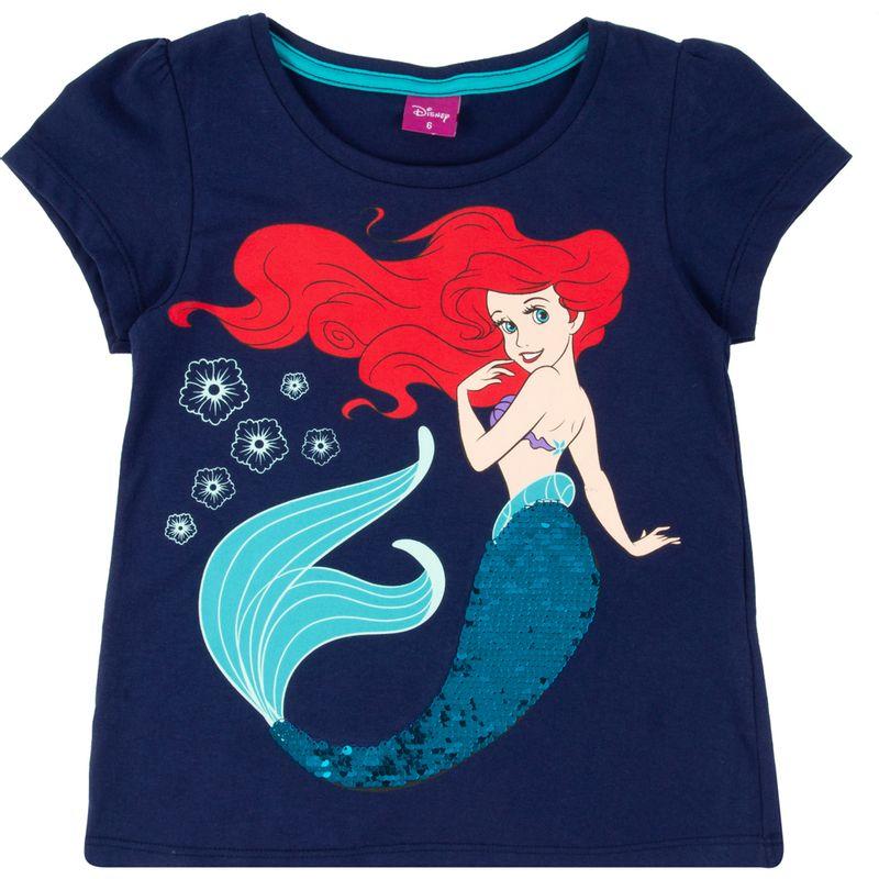 Blusa-Manga-Curta---Algodao---Azul---Ariel---Disney---1
