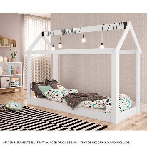 Cama Montessoriana - Casinha - Branca - Completa Móveis
