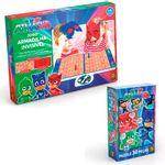 Kit-de-Jogos---PJ-Masks---Quebra-Cabeca---30-Pecas-e-Jogo-Armadilha-Invisivel---Grow