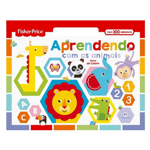 Livro Infantil para Colorir - Fisher Price - Aprendendo com os Animais - Ciranda Cultural