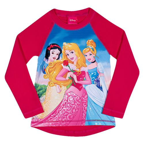 Camiseta de Praia Manga Longa - Disney - Princesas - Cereja - Tip Top
