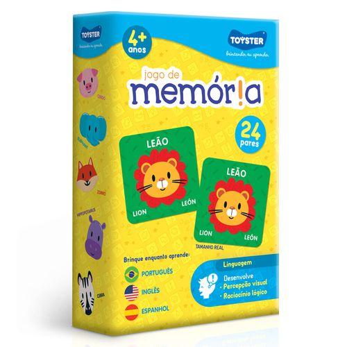 Jogo De Memória - Português, Inglês E Espanhol - Toyster