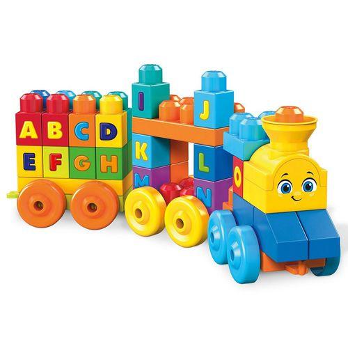 Blocos de Montar - Mega Bloks - 50 Peças - Trenzinho Musical ABC - Fisher-Price
