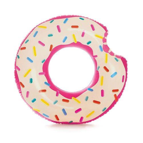 Acessórios de Praia e Piscina - Bóia Redonda - 107 Cm - Rosquinha Donut - Rosa - Intex