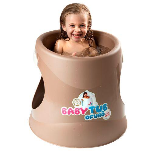 Banheira Babytub Ofurô - De 1 a 6 Anos - Marrom - Baby Tub