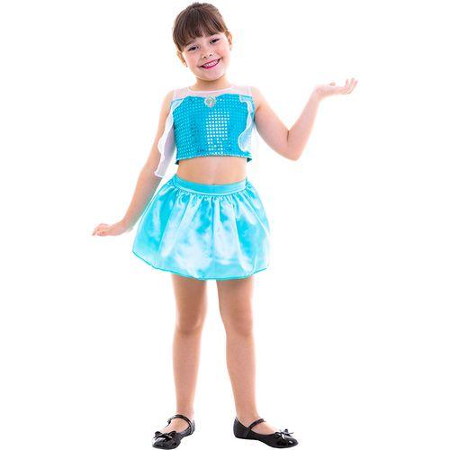 Fantasia Infantil - Cropped - Disney - Frozen - Elsa - Regina Festas