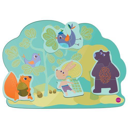 Brinquedo de Parede Autoadesivo - Quebra-Cabeça - Mural de Animais - Oribel