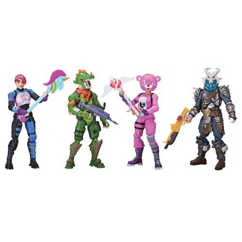 Conjunto com 4 Mini Figuras e Acessórios - Fortnite - Sunny