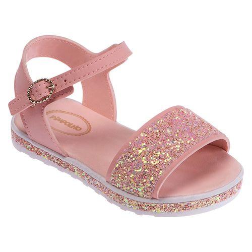 Sandália Para Bebês - Courinho e Glitter - Rosa - Pimpolho