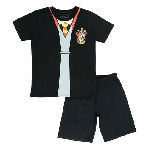 Conjunto Blusa e Short - Algodão - Grifinória - Preto - Harry Potter - Warner
