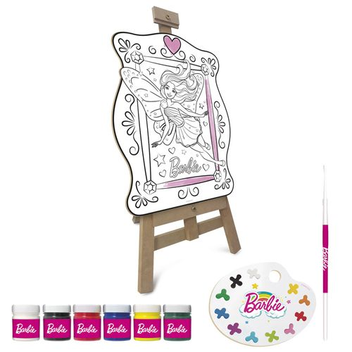 Conjunto de Artes - Painel e Acessórios - Barbie Princesas - Fun