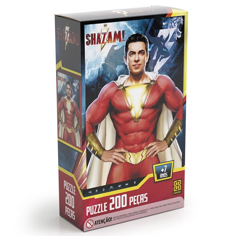 quebra-cabeca-shazam-dc-comics-200-pecas-grow-3757_frente