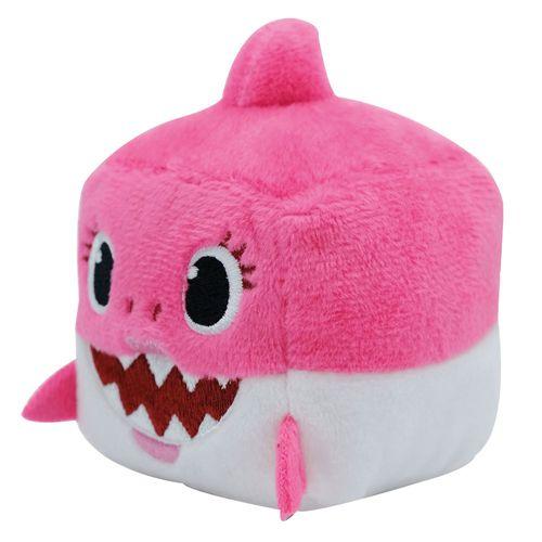 Pelúcia - Baby Shark - 10cm - Rosa - Cubo Musical - Toyng