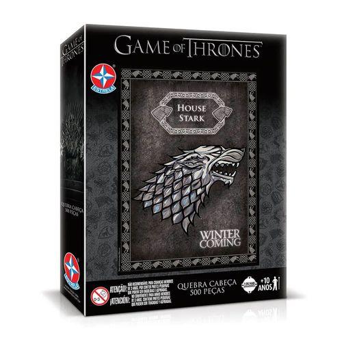 Quebra- Cabeça - 500 Peças - Game Of Thrones - Stark - Estrela